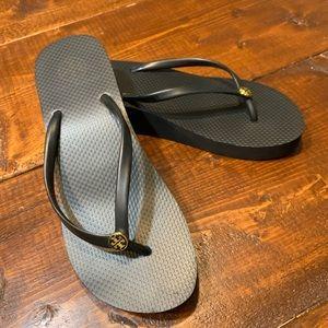 Tory Burch Black Wedge Platform Sandal